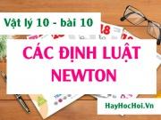Các định luật Niu-tơn (Newton), công thức và ý nghĩa của...